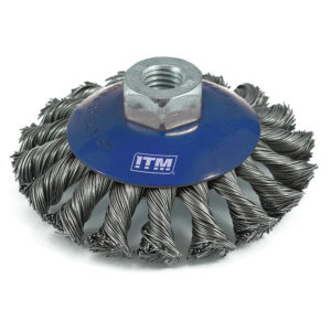 ITM Twist Knot Bevel Brush Steel 100mm