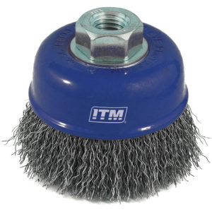 ITM Crimp Wire Cup Brush Stainless Steel 75mm