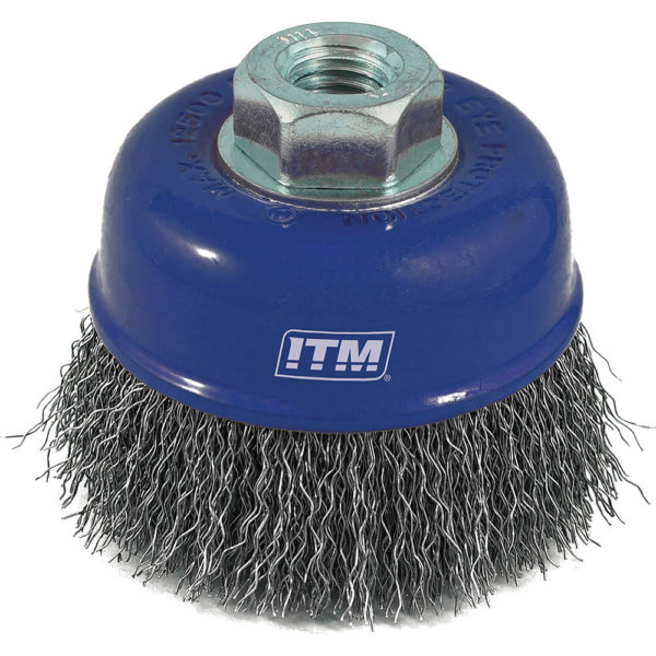 ITM Crimp Wire Cup Brush Steel 65mm