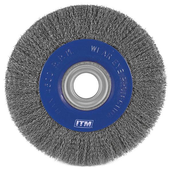 ITM Crimp Wire Wheel Brush Steel 150 x 25mm