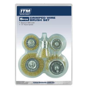 ITM 5 Piece Crimp Wire Brush Kit