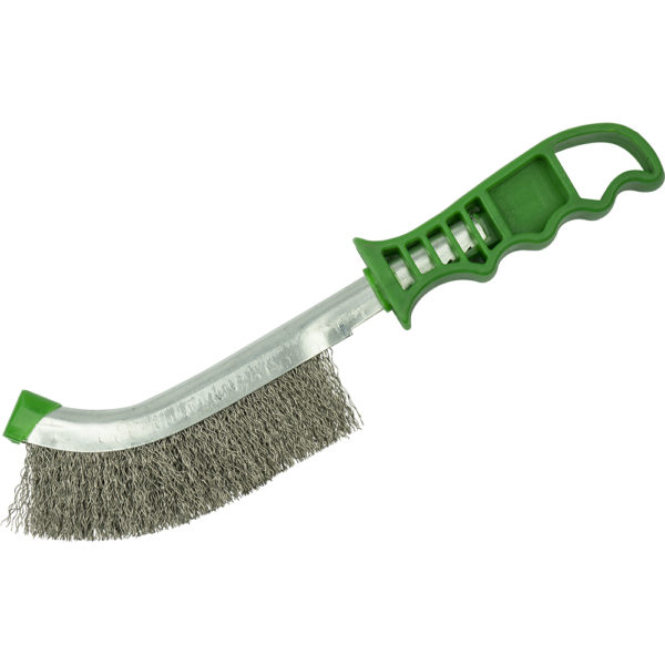 ITM Wire Brush Green Handle - Stainless Steel Wire