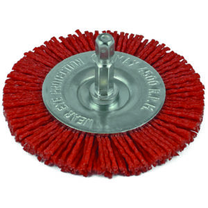 ITM Nylon Spindle Mounted Wheel Brush 100mm
