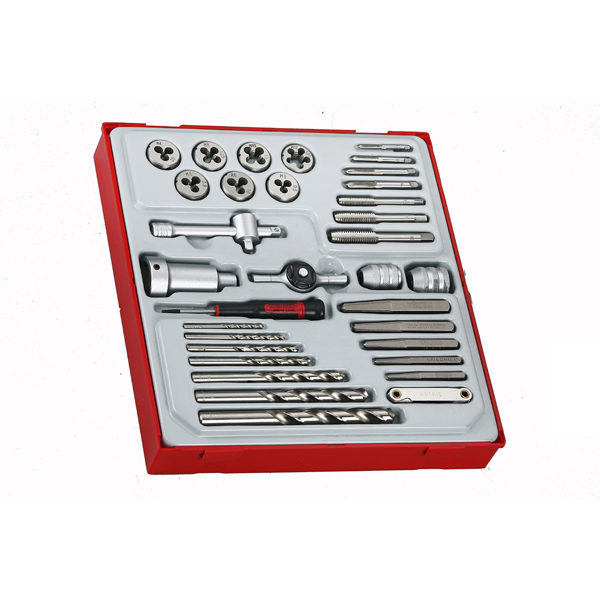 TENG 34PC TAP & DIE SET W/ACCESSORIES - TED-TRAY™