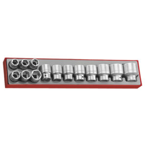 14PC 3/4IN DR. 6-PNT SOCKET SET 19-50MM