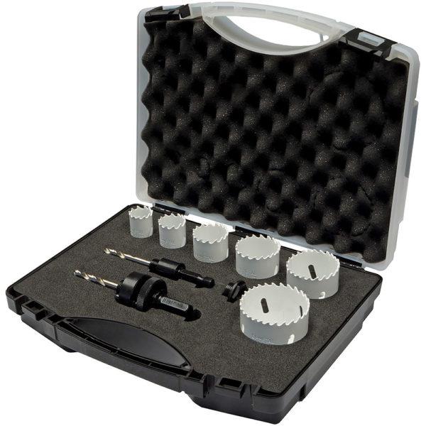Unikut 9pc Bi-Metal Holesaw Set - Locksmith