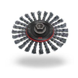 CAM1501KM14 Wire Wheel Twist Knot 150mm x 12mm x 0.5mm - M14 x 2 - Tempered Steel
