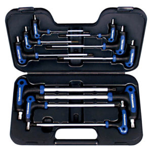 T22900 T-Handle Star Wrench Set 10pc - Star (T10 T15 T20 T25 T27 T30 T40 T45 T50 T55)