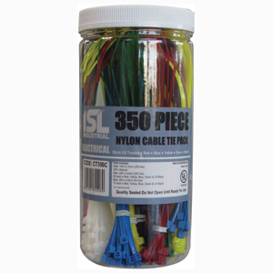 ISL 350PC ISL COLOURED CABLE TIE ASSORTED PACK